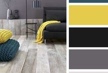 *Gray ~&~ Yellow Bathroom* / Thinking of this color scheme...possibly / by Jo Niehoff