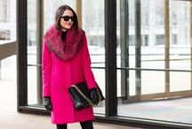 Fall / Winter Outfit Inspiration / Outfit ideas and inspiration. What to wear in the fall and winter. Coats scarves hats gloves leggings boots faux fur / by Wear In LA