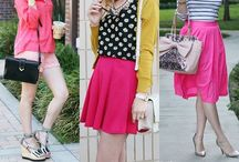 Girly Colorful Outfits / Alright, it's official, I am obsessed with colorful, bright, sparkling, striped, polkadotted, floral printed, classic, trendy, and statement making pieces that transform my ordinary life into something magical! Join in my love for all things girly and colorful! Outfit inspiration women's style neon bright street style / by Wear In LA