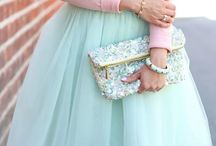 Pretty in Pastel / Look your prettiest in pastel hues!! What to wear how to wear pastels girly colors outfit inspiration the street style light colored outfits pastel light pink light blue women's fashion style advice / by Wear In LA