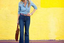 Chambray Your Worries Away / Chambray is one of the trendiest and easiest looks to pull off! What to wear how to wear chambray denim on denim denim shirt outfit inspiration street style style advice women's style / by Wear In LA