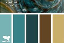 *Brown & Blue  Bathroom* / Color Combo Choice No.2 / by Jo Niehoff