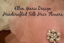Behind the Scenes at Ellen Marie Design / Behind the scenes at Ellen Marie Design, where we work hard to create beautiful wedding veils, headpieces, hair flowers, and other accessories to make you feel great on your special day! #ellenmariedesign