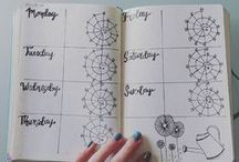 Bullet journal Ideas / Don't know how to start a bullet journal? Need layout and printables? There's some tips for you and your journal!