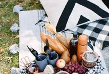 Picnic perfect / Picnic food recipes and everything you need to accessorize your outdoors eating the DIY way!