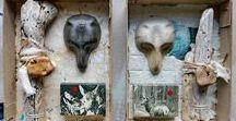 my work: 2018 art boxes / kunstschachteln / art box, art in a box, kunstschachtel, schachtelgeschichten, assemblage, mixed media