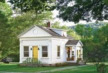 Cottage - Sybil part 1 / I always say that so many different design aesthetics appeal to me that I'm 'like Sybil'.... There is definitely something about a cool, clean, cozy cottage that feels so comfy and casual; like your favorite pair of jeans or your favorite t-shirt,  / by Kelley Appleby