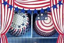 Fourth of July Plate and Napkin Design