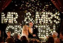 Wedding Trend #Marquee Signs / by Espresso Dave's Coffee Catering