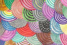 ZENTangle - Zendala - DOODLES  - Tangles - Abstract- Colour Meditation / İnspirational templates :-)