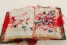 Book for Art Journaling / The artist or designer's work of art; visual, haptic assembly.