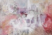 Pastel Abstract Art / Abstract and non representational paintings that share the pastel color palette.