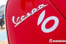 Concentración Mandarina de Vespas y Lambrettas