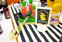 """""""Baby Bistro""""  Camp Pendleton 2012 / Babies""""R""""Us / Graphic Design by Hostess with the Mostess / Dessert Table Styling by Sweets Indeed / Photos by Jackie Culmer Photography"""