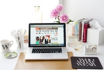 { Home Office Decor iLove } / Inspiration for my super girly home office / by Sara Kobzanets