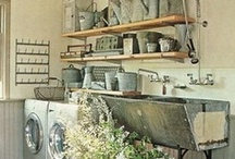 Laundry Room Ideas / Efficient and beautiful ideas for revamping one of the most dull, yet thoroughly used areas of the home! Function + Beauty = elegant efficiency...