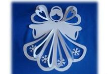Christmas ideas  inc Papercraft Snowflakes / Papercutting Art andcraft  and ideas for Christmas decorating / by Lynne Kells