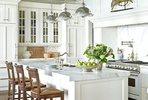 kitchens ~ 19th ~ classic / Ideas for layouts / materials / styles....for classic style kitchens