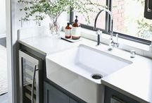 farmhouse kitchen sinks / A collection of ceramic farmhouse (belfast) kitchen sinks and some optional ideas e.g.ceramic sink with drainer or belfast sink in stainless steel !