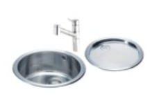 kitchens ~ sinks for small spacesl  / small budget for small space does not have to mean a small 's' in Style !  These sinks are suitable for laminate worktops, in which case they would be 'inset' rather than 'undermounted'.