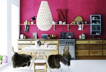 kitchens ~ just add one colour ! / add your own personality but that one statement accent !