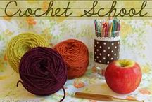 Crochet School / Tutorials and Links for Learning How to Crochet / by Michelle Ray Viscal