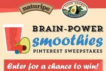 Brain Power Smoothies Pinterest Sweepstakes / In celebration of Einstein's birthday, March 14th we are setting out to find the best brain power smoothies through the power of Pinterest and we need your help!  / by Naturipe Farms