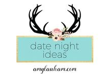 Date Night Ideas / amylanham.com Date night ideas for you and your spouse. At home date night ideas, cheap date night ideas