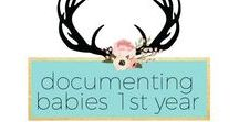 How to Document Babies First Year / How to document baby's first year, birthday, photo books, ideas, inspiration, diy amylanham.com