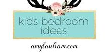Kids Bedroom Ideas / Boys bedroom decor ideas, girls bedroom decor, playroom, inspiration, diy amylanham.com