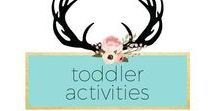 Toddler Activities / amylanham.com activities for toddlers, easy toddler activities, toddlers 1-5
