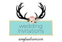 Wedding Invitations / amylanham.com perfect wedding invitations, cute wedding invitations, color scheme ideas