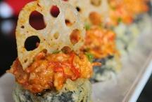Seaweed Snacks / Raw fish rice bites / by Micah Gibson