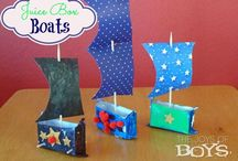 Crafts for the Kids / Stuff for my littles to keep busy Or entertained-hopefully with each other.  / by Ashley Tharp
