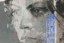 Realism, Portraits & Nature / mixed media art, painting, collage,