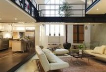 Movie Loft  -  Paris Luxury Rentals / Immense Apartment flooded with Light with a courtyard and multi-level bridges in Paris' Marais District.