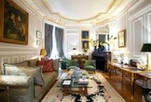 George V Suite  -  Paris Luxury Rentals / Amazing Apartment with 2 Living Rooms & a Library Room featuring authentic and stunning furniture.