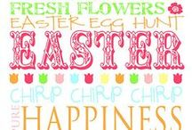 {Holiday} Easter / A festive Easter board for all your favorite Easter recipes, Easter activities, and Easter crafts!