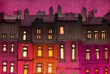 Animation ~ Cities and Street lights / by Christian Palmer