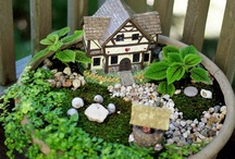 Fairy Gardens/Houses / A Fairy Garden is a miniature garden complete with structures and actual living plants.  It is designed to lure fairies and with them, good luck, to your home.  It's a tiny space created and tended with love.  The design and components are limited only by your imagination and the fairies encourage you to be extra-creative in crafting the perfect abode.