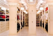 Fantasy Closets / Closets the size of bedrooms w/custom cabinetry to hold our precious possessions, chandeliers perfectly lit to enhance our features and walls of mirrors so we may bask in the glory and mastery of our personal styling. Most of us have daydreamed about having such a closet, some of us are lucky enough to have one. Here are some of our favorite designs and examples.