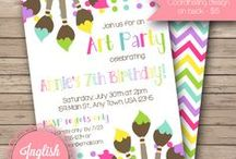 Kid's Party Invitations / Birthday party invitations from my Etsy shop, Inglish Digi Design:  http://www.etsy.com/shop/inglishdigidesign