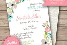 Bridal Shower Invitations / Bridal Shower invitations from my Etsy shop, Inglish Digi Design:  http://www.etsy.com/shop/inglishdigidesign