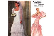 Vintage Wedding Bridal Patterns / Vintage wedding dress bridal gown sewing patterns