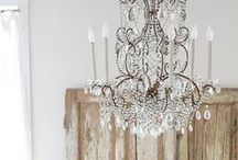 Chandeliers, lights and Candles / Chandeliers, lights and Candles for that special glow in your home.