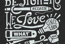 Fonts and type / by Melissa Manos