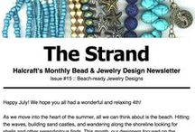 "The Strand #15: Chokers & Barefoot Sandals / Learn to make on-trend chokers and barefoot sandals in this edition of ""The Strand,"" Halcraft's beading and design newsletter"