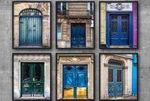 Doors & Other French Delights / I'm a little obsessed by doors. The more colourful doors the better! Art prints of doors make a great home decor feature especially when you combine a few together, by colour theme or by style.