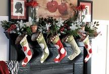 christmas mantle / by Rachel Carlisle