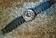 paracord apparel / Custom paracord apparel bracelets, watch bands, dog leashes, dog collars and keychains, will also do special request.